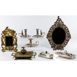 View 2: Silver Plate and Metal Assortment