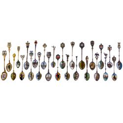 View 4: European Silver (800) Souvenir Spoon Assortment