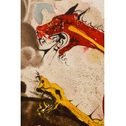 """View 2: Salvador Dali (Spanish, 1904-1989) """"Les Hydres"""" Lithograph"""