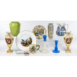 View 2: Pottery and Porcelain Assortment