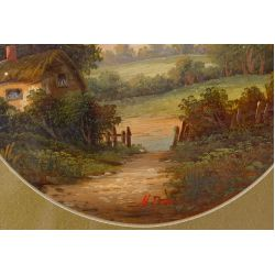 View 3: Unknown Artist (European, 20th Century) Oil on Board