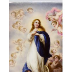 View 3: Unknown Artist (European, 20th Century) Hand Painted Porcelain Plaque