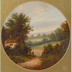 View 2: Unknown Artist (European, 20th Century) Oil on Board