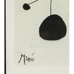 View 3: (Attributed to) Joan Miro (French, 1892-1983) Lithograph