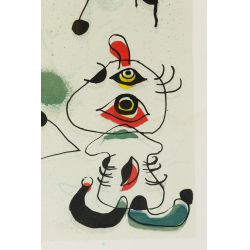 View 2: (Attributed to) Joan Miro (French, 1892-1983) Lithograph