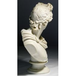 """View 4: (After) C Delpech (French, 19th Century) """"Apollo"""" Parian Bust"""