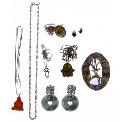 View 2: Sterling Silver and European Silver (800) Jewelry Assortment