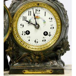 View 2: Ruffony French Figural Mantel Clock