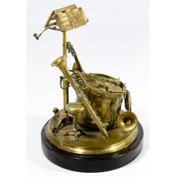 View 4: Musical Instrument Bronze Ink Well