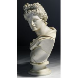 """View 2: (After) C Delpech (French, 19th Century) """"Apollo"""" Parian Bust"""