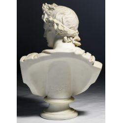 """View 3: (After) C Delpech (French, 19th Century) """"Apollo"""" Parian Bust"""