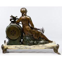 View 3: Ruffony French Figural Mantel Clock