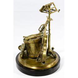 View 2: Musical Instrument Bronze Ink Well