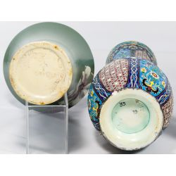 View 3: Pottery and Art Glass Vase and Bowl Assortment