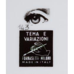 "View 3: Piero Fornasetti ""Tema E Variazioni"" Covered Jar and Plate Assortment"