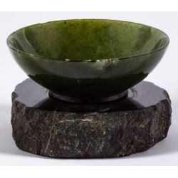 View 3: Asian Style Jadeite Jade Bowl on Stand