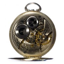 View 3: Waltham 14k White Gold Case Open Face Pocket Watch