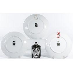 "View 2: Piero Fornasetti ""Tema E Variazioni"" Covered Jar and Plate Assortment"