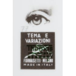"View 5: Piero Fornasetti ""Tema E Variazioni"" Covered Jar and Plate Assortment"