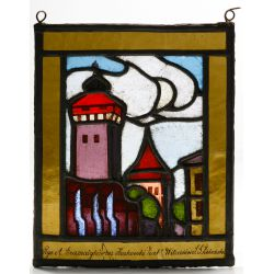 View 3: Polish Stained Glass Landscape Window Assortment