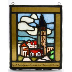 View 5: Polish Stained Glass Landscape Window Assortment