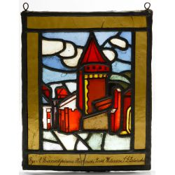 View 4: Polish Stained Glass Landscape Window Assortment