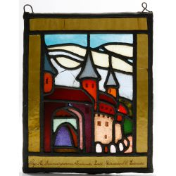 View 2: Polish Stained Glass Landscape Window Assortment