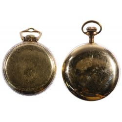 View 2: Elgin and Ball Open Face Pocket Watches