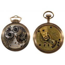 View 3: Elgin and Ball Open Face Pocket Watches