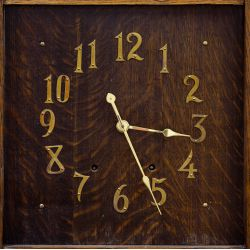 View 2: Arts and Crafts Oak Grandfather Clock