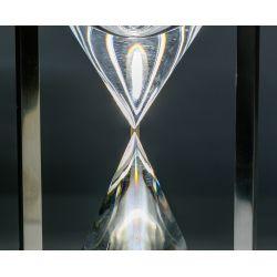 "View 2: Eric Hilton (Scottish, b.1937) for Steuben ""Hourglass"" Sculpture"