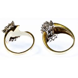 View 2: 14k Gold and Cubic Zirconia Rings