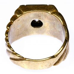 View 3: 10k Gold and Diamond Ring