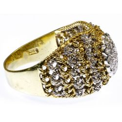 View 2: 18k White and Yellow Gold and Diamond Ring