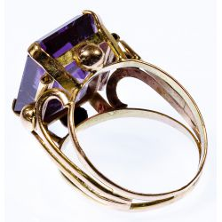 View 2: Egyptian 12k Gold and Sapphire Ring