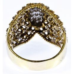 View 3: 18k White and Yellow Gold and Diamond Ring