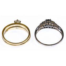 View 2: 14k Gold and 10k Gold Rings