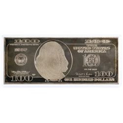View 2: 1997 $100 Fine Silver (999) Federal Reserve Note