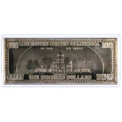 View 3: 1997 $100 Fine Silver (999) Federal Reserve Note