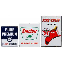 View 2: Reproduction Enamel Advertising Sign Assortment