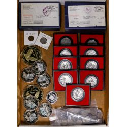 View 2: US Miscellaneous Coin and Token Assortment
