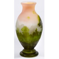 View 4: Emile Galle (French, 1846-1904) Cameo Glass Vase