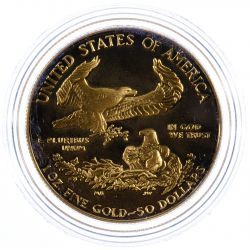 View 3: 1986-W $50 Gold Proof American Eagle