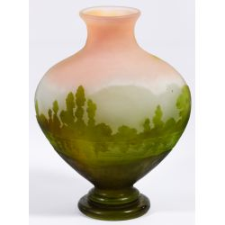 View 3: Emile Galle (French, 1846-1904) Cameo Glass Vase