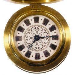 View 3: Le Coultre Brass Filigree Travel / Desk Clock