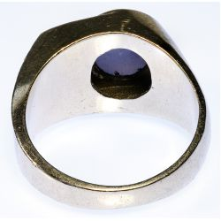 View 3: Platinum, Star Sapphire and Diamond Ring