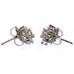 View 3: Platinum and Diamond Pierced Earrings