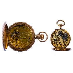 View 3: 14k Gold Hunter Case Pocket Watch