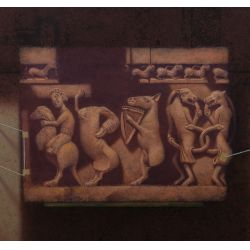 "View 2: David Snyder (American, 20th Century) ""Sarcophagus"" Oil on Board"