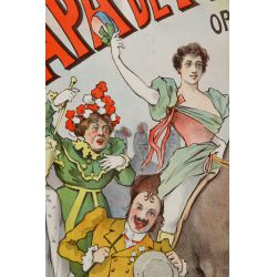 """View 2: Alfred Choubrac (French, 1853-1902) """"Le Papa De Francine Theatre Cluny"""" Poster"""